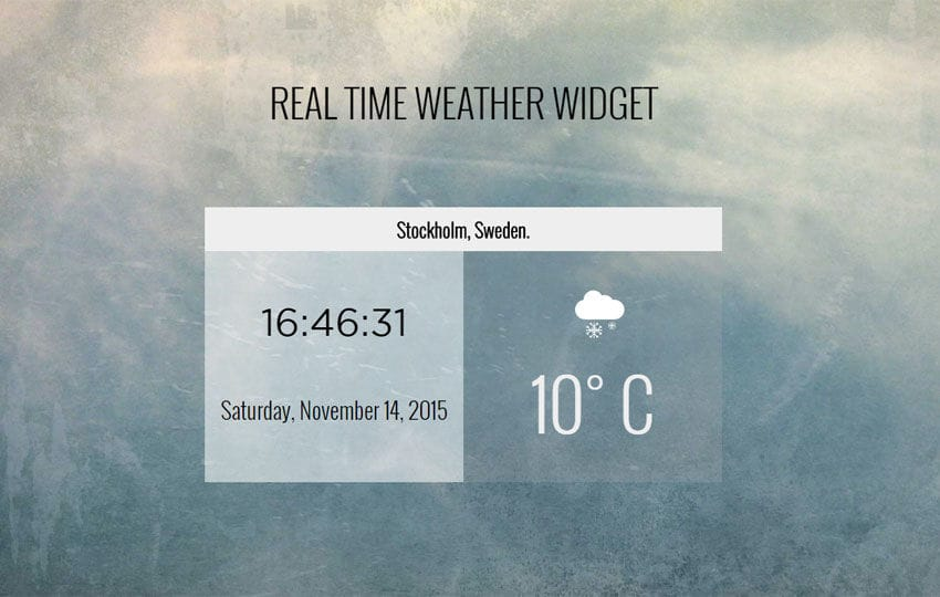 Real Time Weather Widget Responsive Template