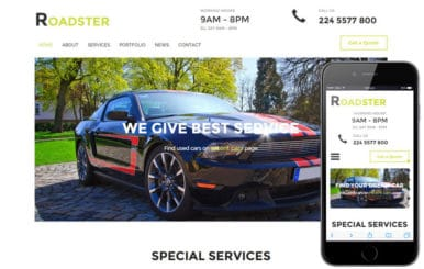 Roadster a Auto Mobile Category Flat Bootstrap Responsive Web Template