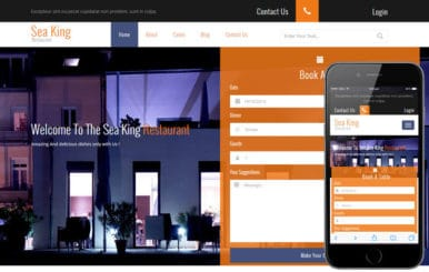 Sea King Restaurant a Hotel Category Flat Bootstrap Responsive Web Template
