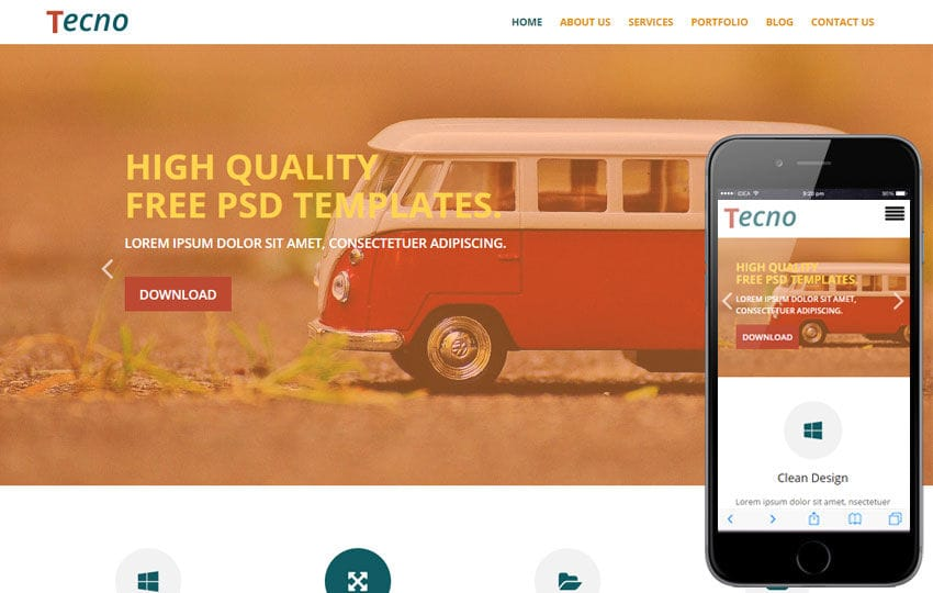 Tecno a Corporate Business Flat Responsive Web Template