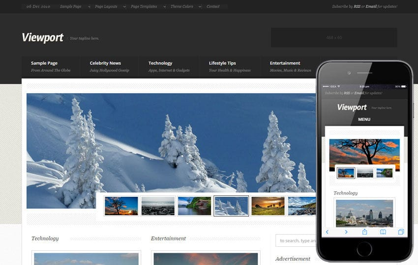 View Port a Entertainment Category Flat Responsive Web Template