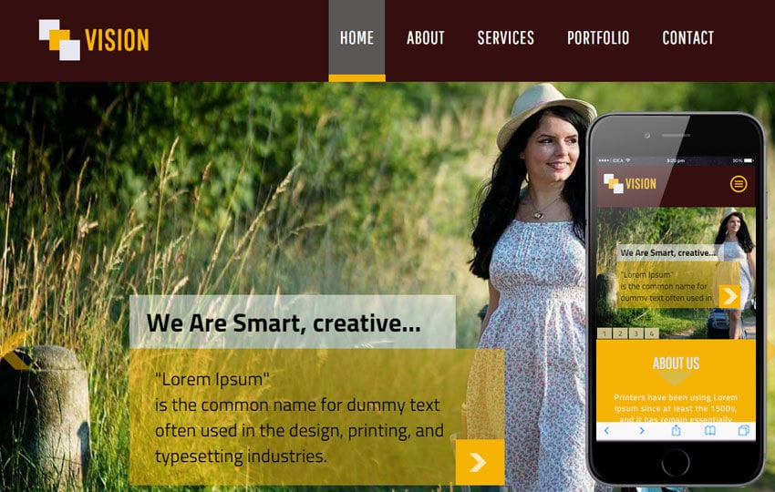 Vision a Personal Portfolio Flat Bootstrap Responsive Web Template
