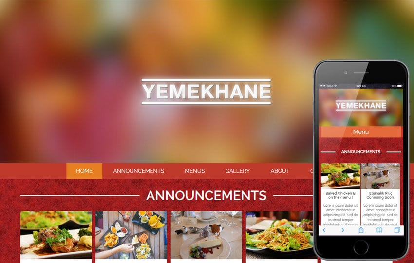 Yemekhane a Food Category Flat Bootstrap Responsive Web Template