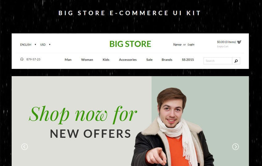 Big Store Ecommerce UI Kit Bootstrap Responsive Web Template