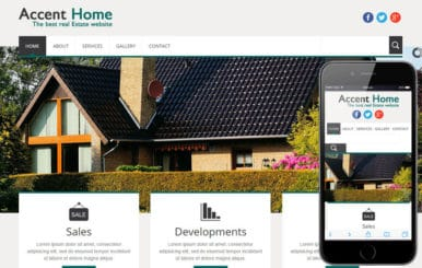 Accent Home a Real Estate Mobile Website Template