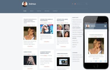 Animus a Blogging Category Flat Bootstrap Responsive Web Template
