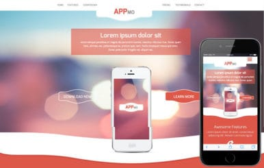 Appmo a Mobile App based Flat Bootstrap Responsive Web Template