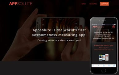Appsolute a Mobile App based Flat Bootstrap Responsive Web Template