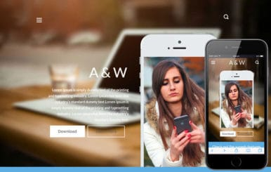 A&W a App Landing Page Bootstrap Responsive web template