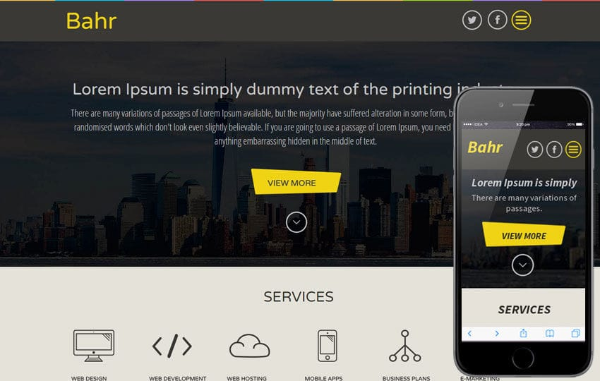 Bahr a Corporate Business Flat Bootstrap Responsive web template