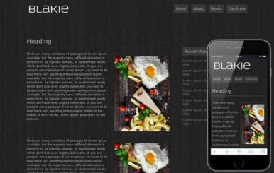 Blakie – Free Web and Mobile Website Template
