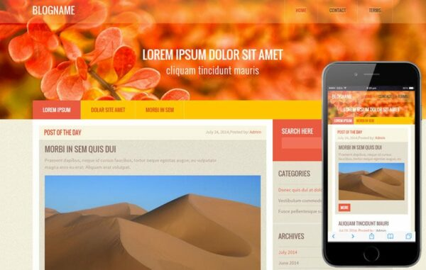 Blog Name a Blogging Category Flat Bootstrap Responsive Web Template