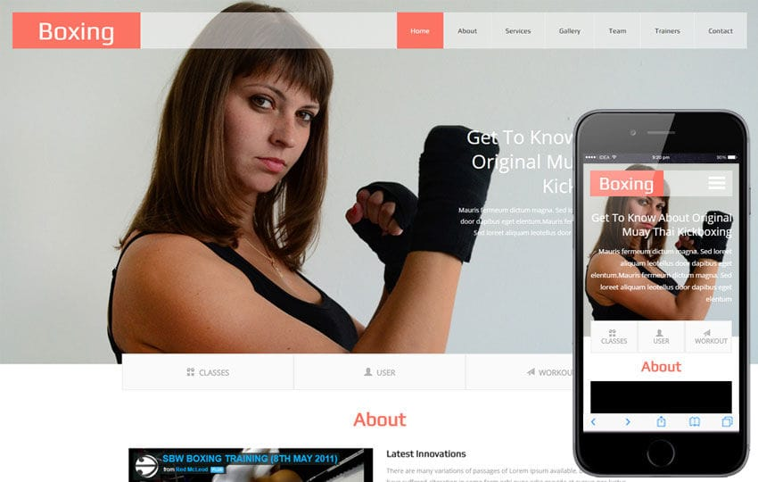 Boxing a Sports Category Flat Bootstrap Responsive Web Template