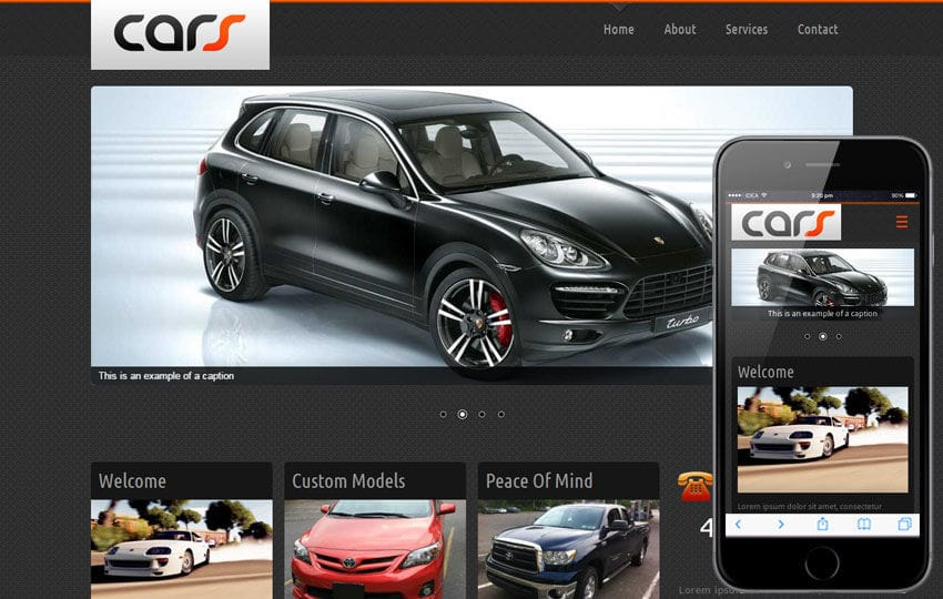 Cars Automobile Mobile Website Template