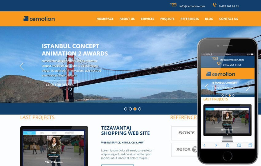 Cemotion a Corporate Multipurpose Flat Bootstrap Responsive web template