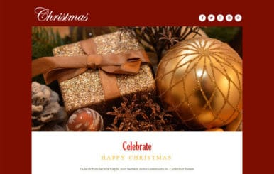 Christmas a Newsletter Responsive Web Template