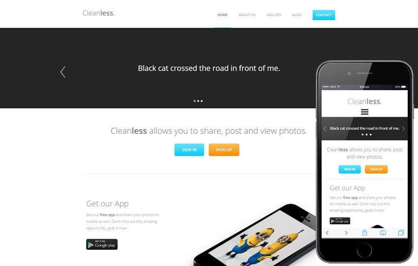 Cleanless a landingpage Multipurpose Flat Bootstrap Responsive Web Template