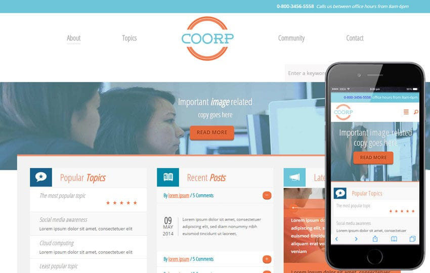 Coorp a Corporate Flat Bootstrap Responsive web template