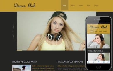 New Dance Club Website and Mobile Website for dance lovers