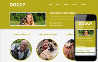 Doggy- Mobile Website Template
