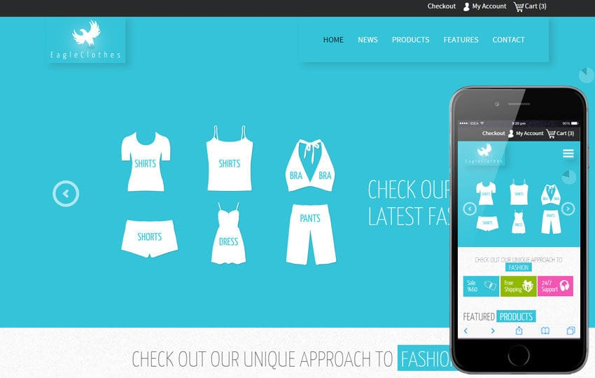 Eagle Cloths a Flat Ecommerce Bootstrap Responsive Web Template