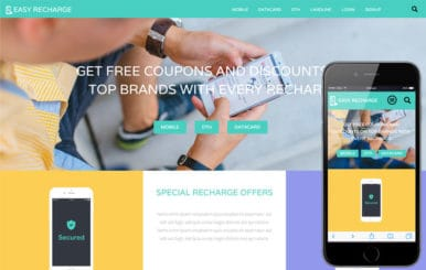Easy Recharge – Online Recharge Bootstrap Responsive Website Template