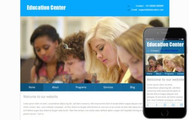 New Education Center web template and mobile web template