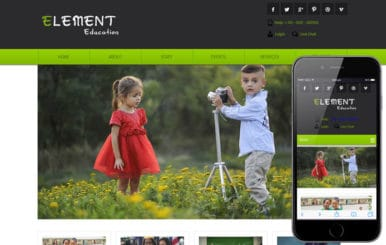 Element Education Mobile Website Template