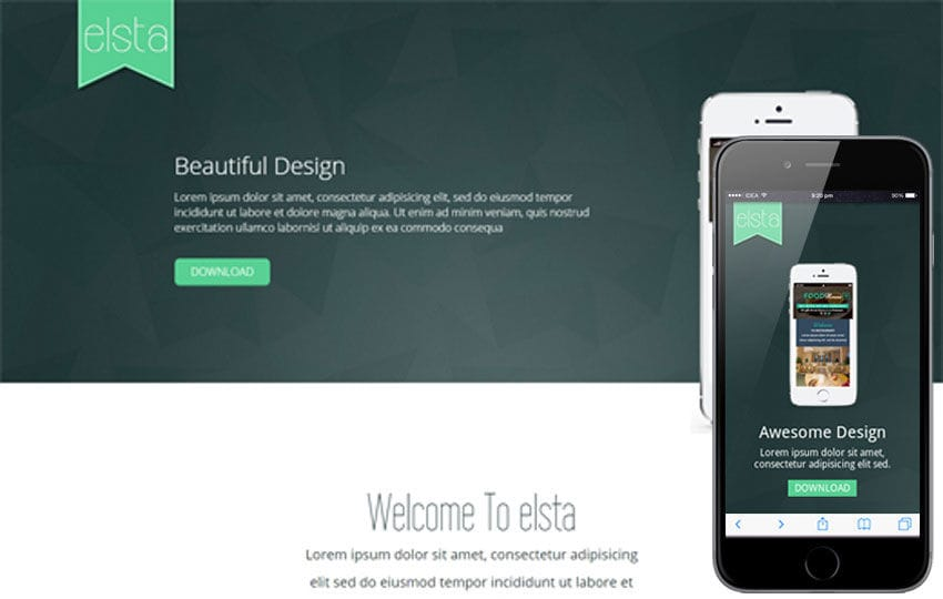 Elsta a Mobile App based Flat Bootstrap Responsive web template