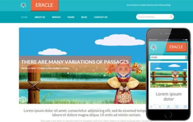 Eracle a Personal Portfolio Flat Responsive web template
