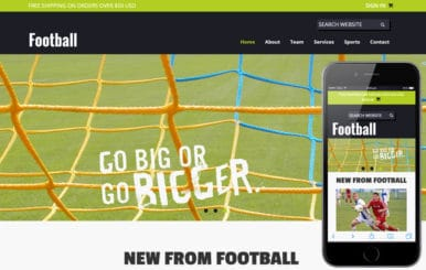 Football a Sports Category Flat Bootstrap Responsive web template