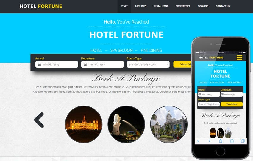 Fortune a Hotel Category Flat Bootstrap Responsive web template