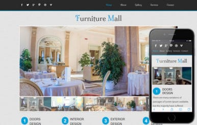 Furniture Mall Mobile Website Template