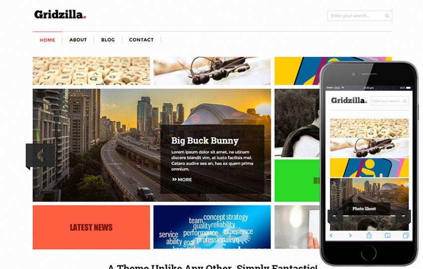 Gridzilla Corporate Multipurpose Flat Bootstrap Responsive Web Template