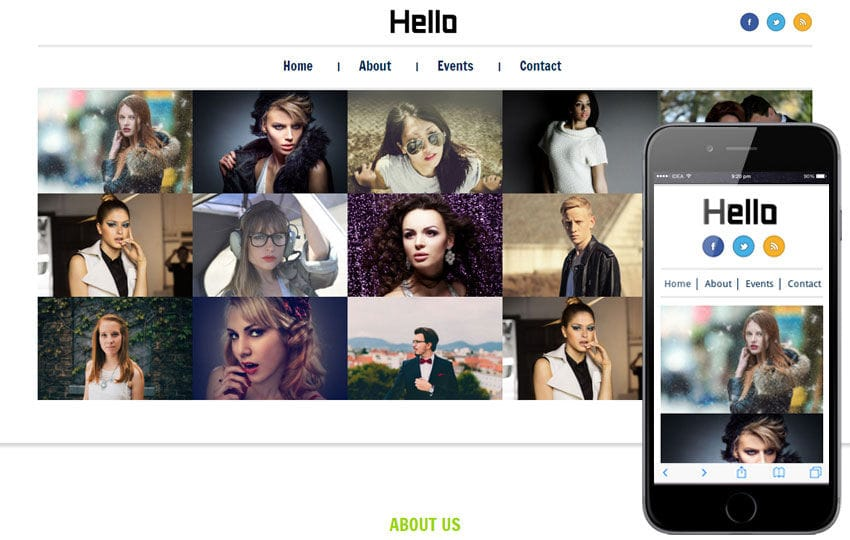 Hello personal web and Mobile Website Template