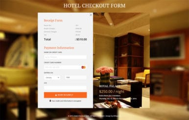 Hotel Checkout Form Responsive Widget Template
