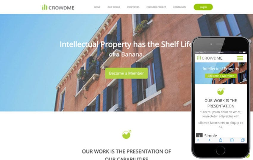 Icrowdme a Single Page Multipurpose Flat Bootstrap Responsive web template