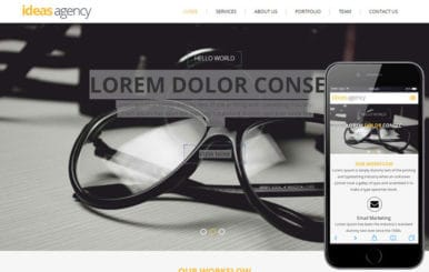 Ideas Agency Portfolio Flat Bootstrap Responsive web template
