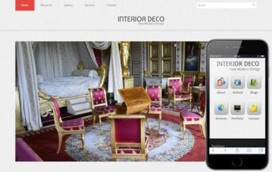 Interior Deco Web And Mobile Website Template For Free