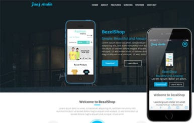 JaaJ a Mobile App based Flat Bootstrap Responsive web template
