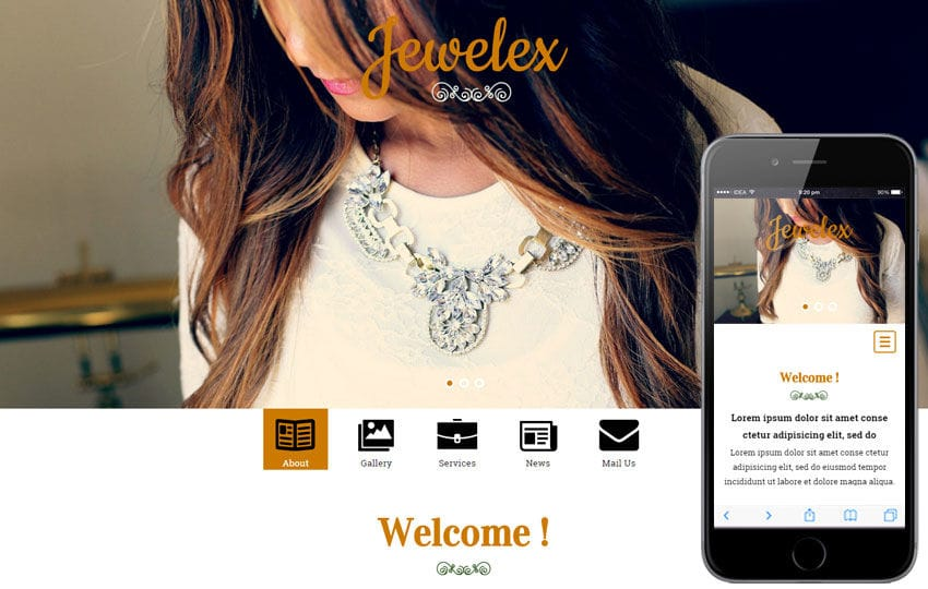 Jewelex a Jewellery Category Flat Bootstrap Responsive Web Template
