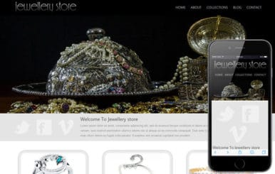 Jewellery store mobile web template