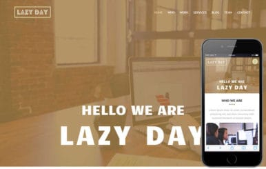 Lazyday a Personal Portfolio Flat Bootstrap Responsive web template