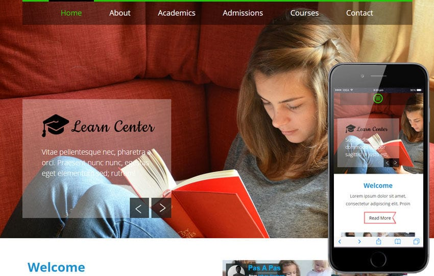Learn Center a Educational Multipurpose Flat Bootstrap Responsive web template