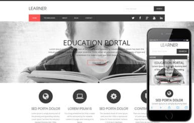 Learner a Educational Flat Responsive web template