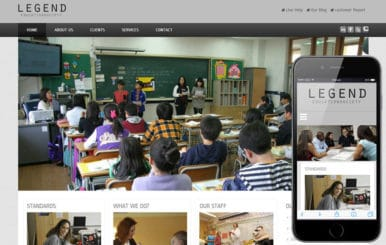 Legend College Mobile Website Template