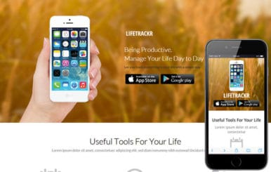LifeTrackr a Landing page Flat Responsive web template