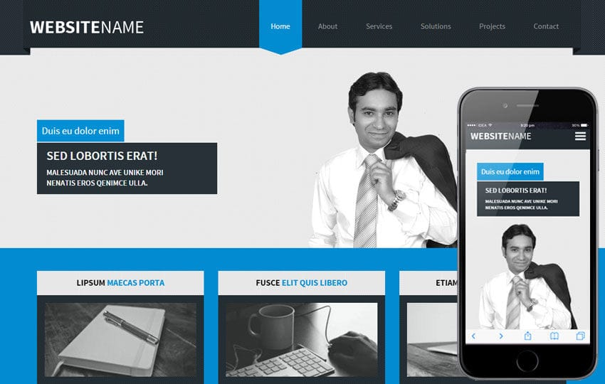 Lobortis a Corporate Multipurpose Flat Bootstrap Responsive Web Template