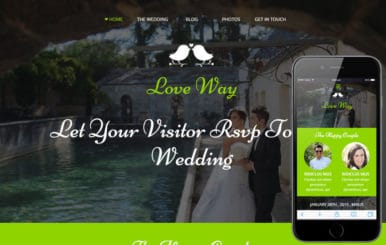 Love Way a Flat Wedding Planner Bootstrap Responsive Web Template