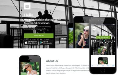 Macro a Mobile App based Flat Bootstrap Responsive web template